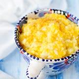 Millet et riz Kasha (gruau) avec le potiron Images libres de droits