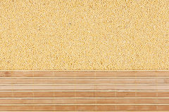 Millet grain and bamboo mat Stock Images