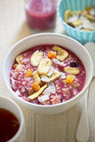 Millet grain with berry smoothie and dried fruits Royalty Free Stock Photos