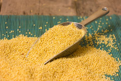 Millet groats Stock Photo