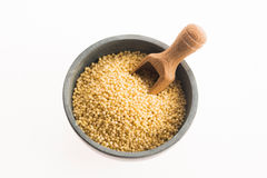 Millet groats on white. Millet groats isolated on white Royalty Free Stock Images