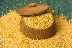 Millet groats Stock Image