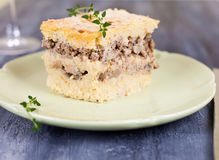Millet meat pie with mushrooms Stock Image
