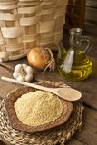 Millet and olive oil Royalty Free Stock Photo