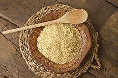 Millet from organic farming Royalty Free Stock Images
