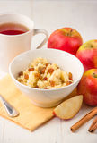 Millet porridge with apples and raisins Royalty Free Stock Photography