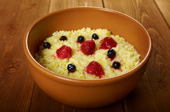 Millet porridge with berry Royalty Free Stock Photo