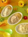 Millet porridge, creamed rice and spelt mash Royalty Free Stock Image