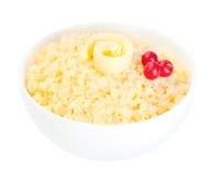 Millet porridge isolated on white Stock Images