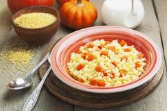 Millet porridge with pumpkin Royalty Free Stock Image