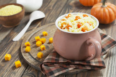 Millet porridge with pumpkin Royalty Free Stock Photos