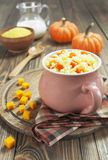 Millet porridge with pumpkin Stock Photography