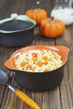 Millet porridge with pumpkin Stock Photos