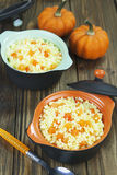 Millet porridge with pumpkin Royalty Free Stock Photo