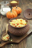 Millet porridge with pumpkin Stock Images