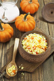 Millet porridge with pumpkin Stock Image