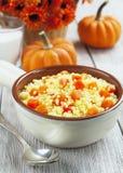 Millet porridge with pumpkin Royalty Free Stock Images
