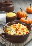 Millet porridge with pumpkin Stock Photography