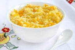 Millet porridge with pumpkin Stock Photos