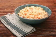 Millet porridge with pumpkin Stock Image