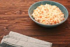 Millet porridge with pumpkin Stock Photo