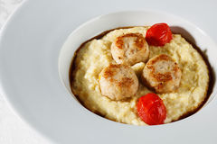 Millet porridge and rissoles Stock Photography