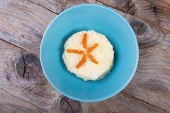 Millet porridge with apricots stock images