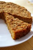 Millet and pumpkin pie. Homemade millet pie mixed with pumpkin and onion in white dish Stock Photography