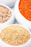 Millet with red lentil in the background Stock Images
