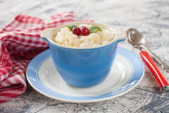 Millet rice porridge in a bowl Stock Images