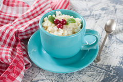 Millet rice porridge in a bowl Royalty Free Stock Photography