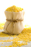 Millet in small sack Stock Image