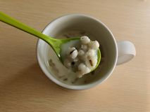 Millet, soy beans boiled in water. Taste delicious. Thailand, people like to eat for breakfast.  stock images