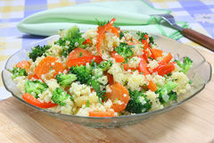 Millet  with vegetable Royalty Free Stock Photo
