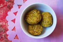 Millet vegetarian meatballs Stock Photo