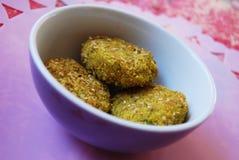 Millet vegetarian meatballs Stock Images