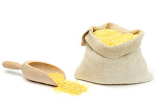 Millets in bag Royalty Free Stock Photography