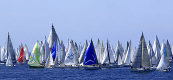 Millevele Sail Regatta 2010. An image of Millevele Regatta while starting in Genoa (Italy Royalty Free Stock Photo