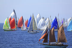 Millevele Sail Regatta 2010. An image of Millevele Regatta after starting in Genoa (Italy Stock Image