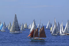 Millevele Sail Regatta 2010. An image of Millevele Regatta after starting in Genoa (Italy Stock Photo