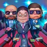 Milliardaire chinois Style réaliste de bande dessinée de caricature illustration libre de droits