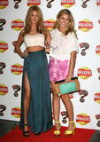 Millie Mackintosh, Caggie Dunlop. Caggie Dunlop and Millie Mackintosh arriving for the Walkers Crisps New Flavours Launch Party, at Roast, Borough Market, London Royalty Free Stock Photos