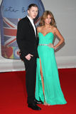 Millie Mackintosh, Professor Green. Professor Green and girlfriend Millie Mackintosh arriving for the 2012 Brit Awards, at the O2 Arena, London. 21/02/2012 Stock Images