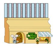 Millie Mouse-` s Käse-Shop Stockfotografie
