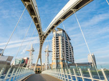 Millienium footbridge in Manchester Royalty Free Stock Photography