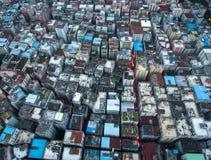 Milliers de logements vivants dans le voisinage antique de Baishizhou Chine photo libre de droits
