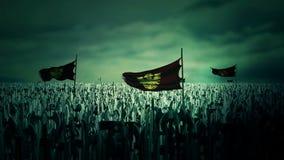 Milliers de soldats de Roman Byzantine Empire marchant à la guerre illustration libre de droits