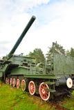 305-millimètre arme à feu ferroviaire TM-3-12 Photos stock