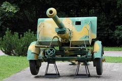 75-millimètre de champ de type 90 d'arme à feu de JAPON 1932 pour des raisons d'armements e Photo libre de droits