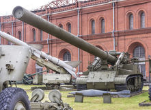 420-millimètre mortier autopropulsé 2B1 Image libre de droits
